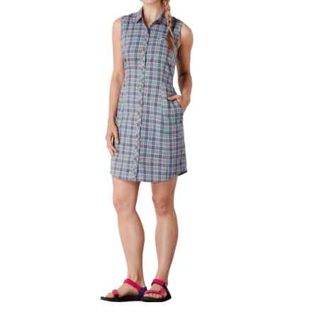 Toad&Co Maneuver Shirtdress - Organic Cotton, Sleeveless (For Women) in Dark Turquoise - Closeouts