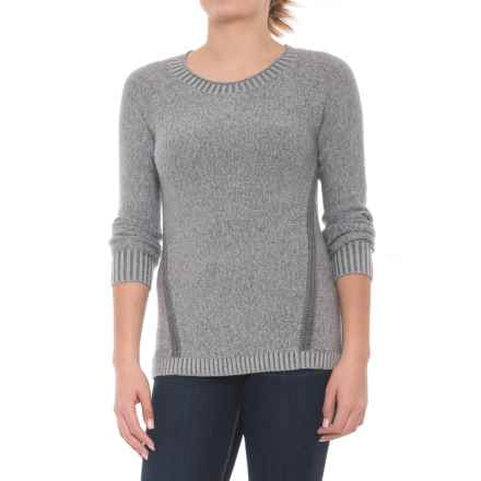 Toad&Co Marlevelous Panel Crew Sweater - Merino Wool (For Women) in Charcoal Heather - Closeouts