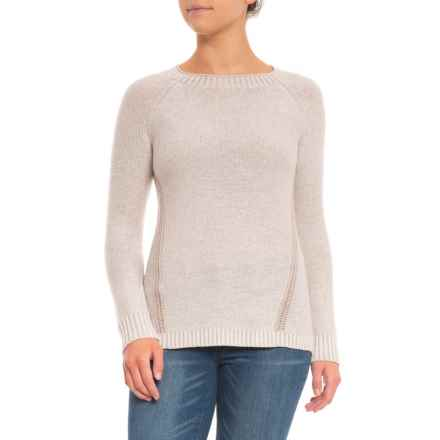 Toad&Co Marlevelous Panel Crew Sweater - Merino Wool (For Women) in Salt - Closeouts