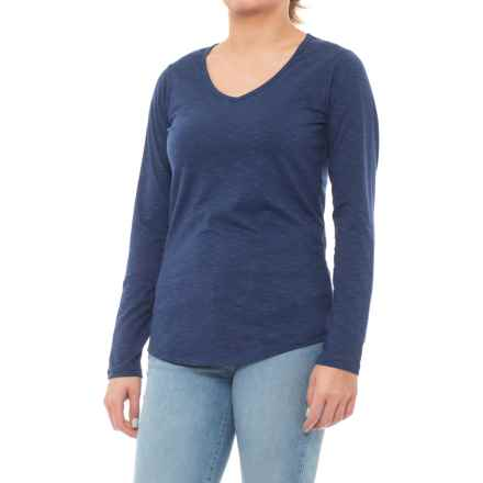 Toad&Co Marley Graceful Shirt - Organic Cotton, Long Sleeve (For Women) in Mariner Blue - Closeouts