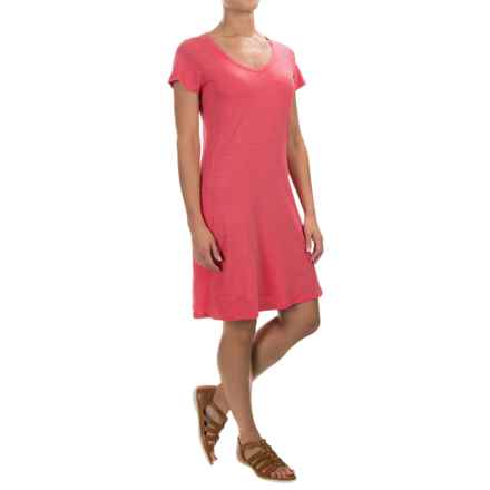 Toad&Co Marley T-Shirt Dress - Short Sleeve (For Women) in Sorbet - Closeouts