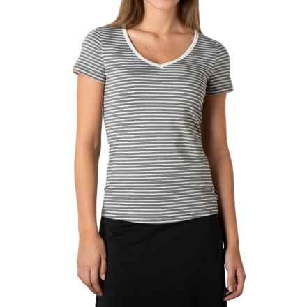 Toad&Co Marley T-Shirt - Organic Cotton-TENCEL®, Short Sleeve (For Women) in Smoke Stripe - Closeouts