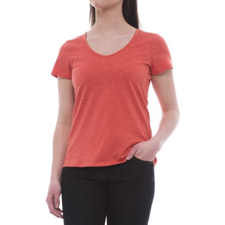 Toad&Co Marley T-Shirt - Organic Cotton-TENCEL®, Short Sleeve (For Women) in Spiced Coral