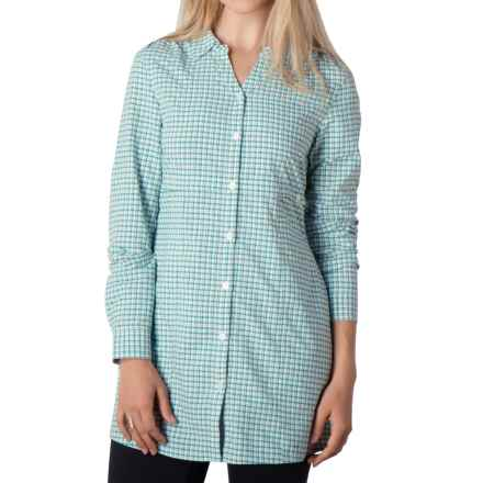 Toad&Co Marvista Tunic Shirt - UPF 25+, Long Sleeve (For Women) in Dark Turquoise - Closeouts