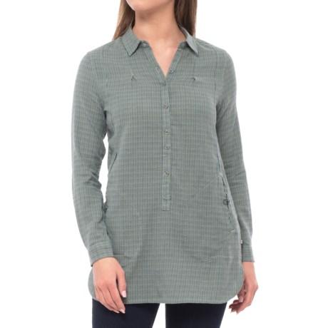Toad&Co Mixo Tunic Shirt - Organic Cotton, Long Sleeve (For Women) in Borealis