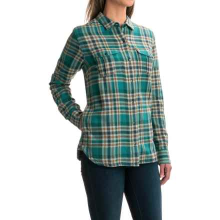 Toad&Co Mojacette Flannel Overshirt - Fully Lined, Long Sleeve (For Women) in Marine Green - Closeouts