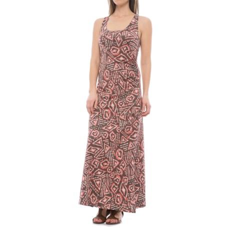 Toad&Co Montauket Long Dress - TENCEL®-Organic Cotton, Sleeveless (For Women) in Falcon Brown Brush Print