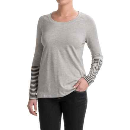Toad&Co Necessitee T-Shirt - Organic Cotton, Long Sleeve (For Women) in Heather Gray - Closeouts