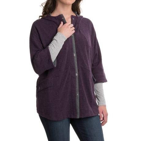 Toad&Co Nightwatch Cape - 3/4 Sleeve (For Women) in Tyrian Purple