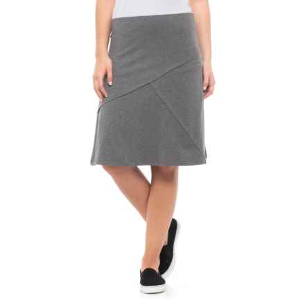 Toad&Co Oblique TENCEL® Skirt (For Women) in Charcoal Heather - Closeouts