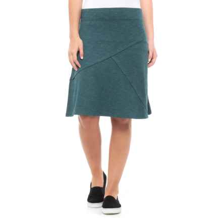 Toad&Co Oblique TENCEL® Skirt (For Women) in Deep Teal - Closeouts