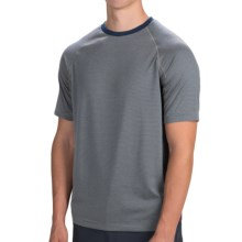 Toad&Co Onrush Raglan T-Shirt - Short Sleeve (For Men) in Chrome Stripe - Closeouts