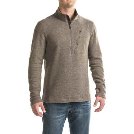 Toad&Co Outbound Fleece Shirt - Zip Neck, Long Sleeve (For Men) in Falcon Brown - Closeouts