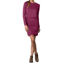 Toad&Co Outfox Dress - Organic Cotton-TENCEL®, Long Sleeve (For Women) in Dark Thistle - Closeouts
