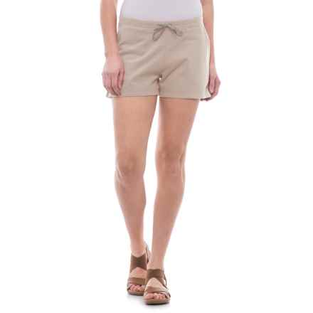 """Toad&Co Overchill Shorts - 3"""", Baby French Terry (For Women) in Pelican - Closeouts"""