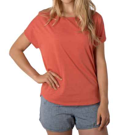 Toad&Co Palmilla T-Shirt - Organic Cotton, Short Sleeve (For Women) in Cedar - Closeouts