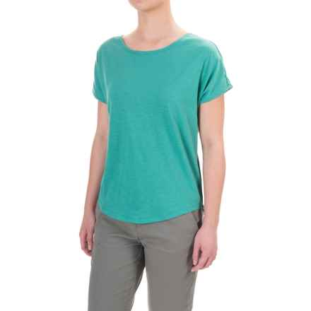 Toad&Co Palmilla T-Shirt - Organic Cotton, Short Sleeve (For Women) in Dark Turquoise - Closeouts