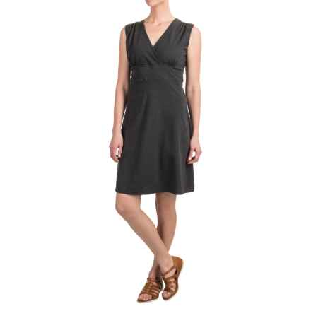 Toad&Co Palmira V-Neck Dress - UPF 25+, Sleeveless (For Women) in Black Heather - Closeouts