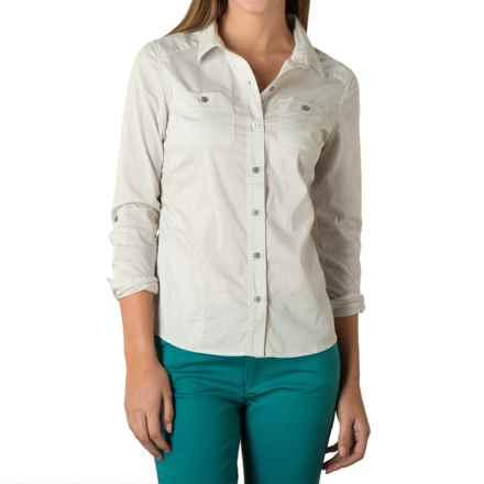 Toad&Co Panoramic Shirt - UPF 25+, Organic Cotton, Long Sleeve (For Women) in Smoke Stripe - Closeouts