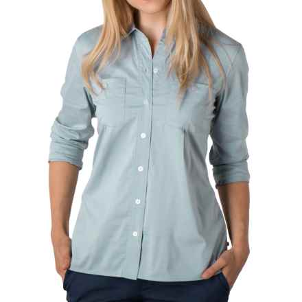 Toad&Co Panoramic Shirt - UPF 25+, Organic Cotton, Long Sleeve (For Women) in Weathered Blue Stripe - Closeouts