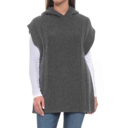 Toad&Co Pico Poncho Sweater - Lambswool, Sleeveless (For Women) in Charcoal Heather - Closeouts