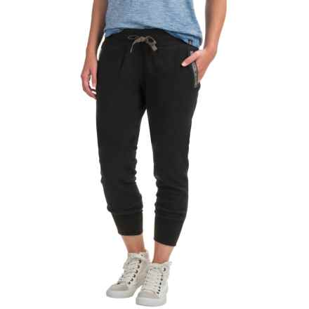 Toad&Co Revival Fleece Joggers (For Women) in Black - Closeouts