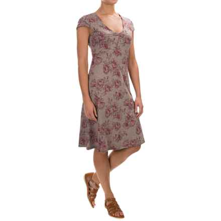 Toad&Co Rosemarie Dress - Short Sleeve (For Women) in Cocoa Poppy - Closeouts