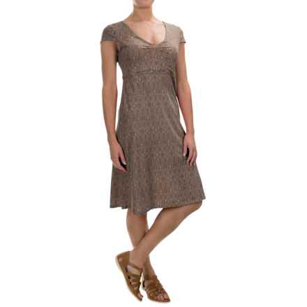 Toad&Co Rosemarie Dress - Short Sleeve (For Women) in Falcon Brown Tapestry - Closeouts