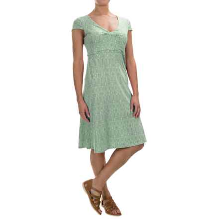 Toad&Co Rosemarie Dress - Short Sleeve (For Women) in Pistachio Tapestry - Closeouts
