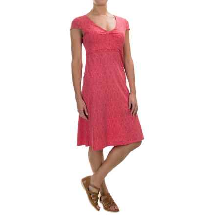 Toad&Co Rosemarie Dress - Short Sleeve (For Women) in Sorbet Tapestry - Closeouts