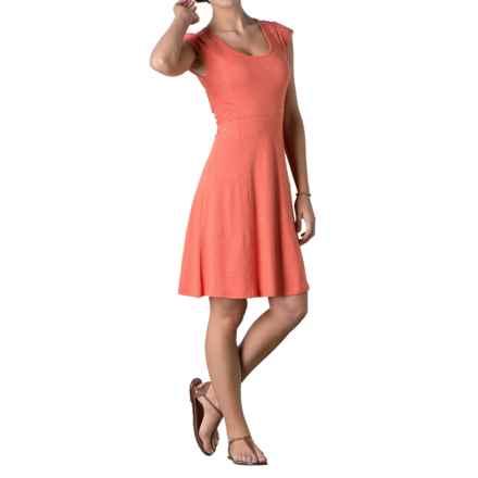 Toad&Co Sama Sama Wave Panel Dress - Organic Cotton-TENCEL®, Sleeveless (For Women) in Cedar - Closeouts