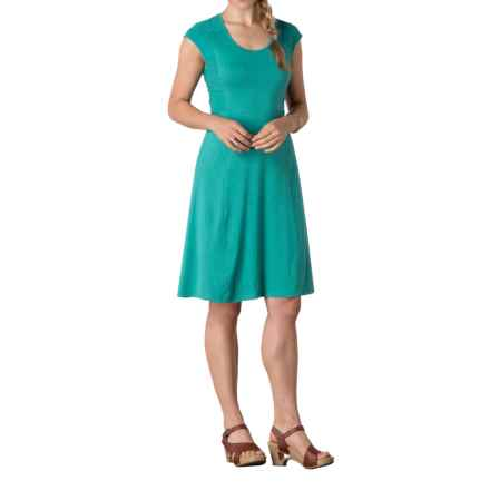 Toad&Co Sama Sama Wave Panel Dress - Organic Cotton-TENCEL®, Sleeveless (For Women) in Dark Turquoise - Closeouts