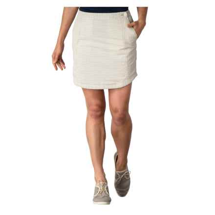 Toad&Co Seersucker Skirt - Organic Cotton (For Women) in Light Ash - Closeouts