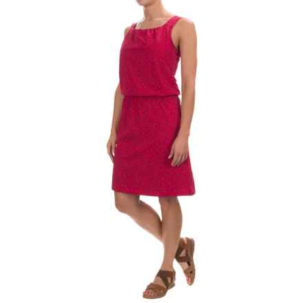 Toad&Co Shirred Thing Dress - Sleeveless (For Women) in Cerise Leaf - Closeouts