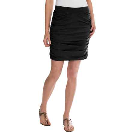 Toad&Co Shirred Thing Skirt - Organic Cotton-Modal (For Women) in Black - Closeouts