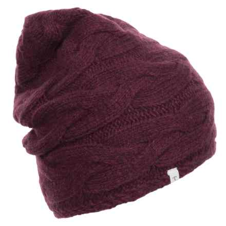 Toad&Co Slouch Beanie - Wool (For Women) in Vino - Closeouts