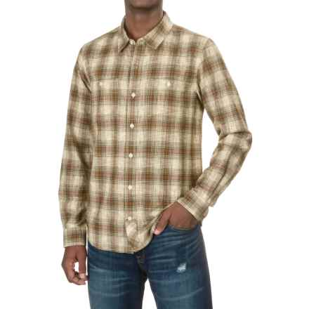 Toad&Co Smythy Plaid Shirt - Organic Cotton, Long Sleeve (For Men) in Seal Brown - Closeouts