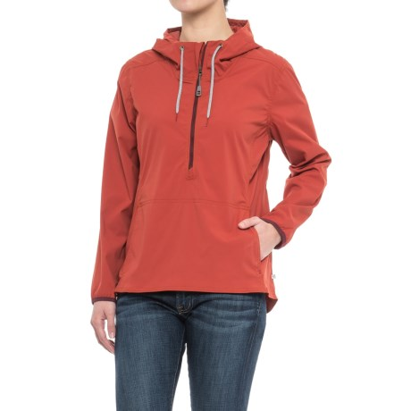 Toad&Co Spindrift Anorak Jacket - UPF 40+ (For Women) in Red Clay
