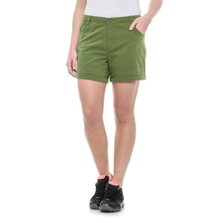 Toad&Co Summitline Hiking Shorts - Organic Cotton, UPF 40+ (For Women) in Kale