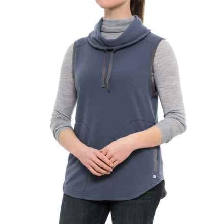 Toad&Co Sundowner Microfleece Vest - Cowl Neck (For Women) in Indigo - Closeouts