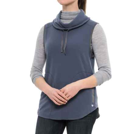 Toad&Co Sundowner Microfleece Vest - Cowl Neck (For Women) in Indigo - Closeouts