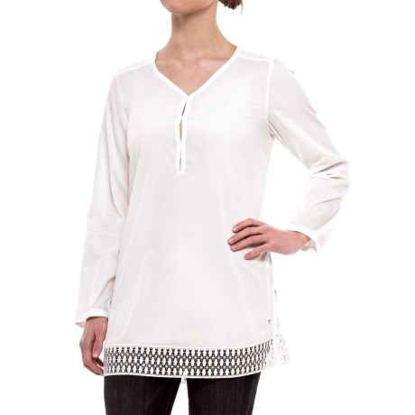 Toad&Co Sunlight Tunic Shirt - UPF 25+, Long Sleeve (For Women) in White