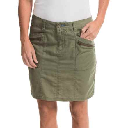 Toad&Co Swept Away Skirt - Linen-Organic Cotton (For Women) in Dusty Olive - Closeouts