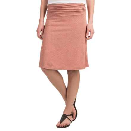 Toad&Co Swifty Chaka Skirt - UPF 40+ (For Women) in Cedar Stripe - Closeouts