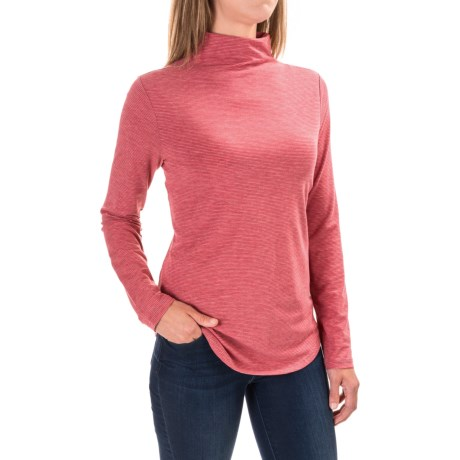 Toad&Co Swifty Tunic Shirt - UPF 40+, Long Sleeve (For Women) in Currant Red Stripe
