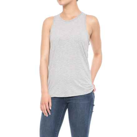 Toad&Co Swifty Vent Tank Top - UPF 40+ (For Women) in Egret Stripe - Closeouts