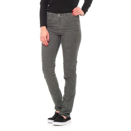Toad&Co Sybil Stretch Cotton Corduroy Pants - Fine Wale, Organic Cotton, Slim Cut (For Women) in 004 Dark Graphite