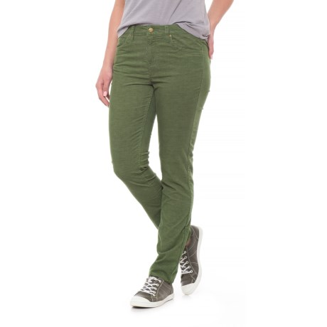Toad&Co Sybil Stretch Cotton Corduroy Pants - Fine Wale, Organic Cotton, Slim Cut (For Women) in Kale
