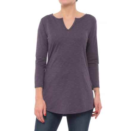 Toad&Co Tamaya Dos Tunic Shirt - Organic Cotton, 3/4 Sleeve (For Women) in Nightshade - Closeouts