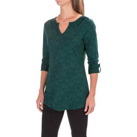 Toad&Co Tamaya TENCEL® Tunic Shirt - V-Neck, Long Sleeve (For Women) in Ponderosa Tribal Print - Closeouts